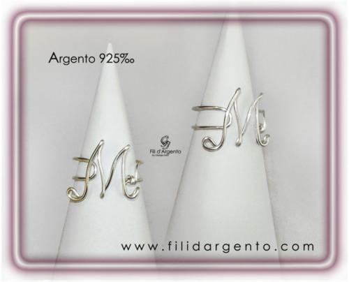 Anello-Lettera-Iniziale-M-Argento 925