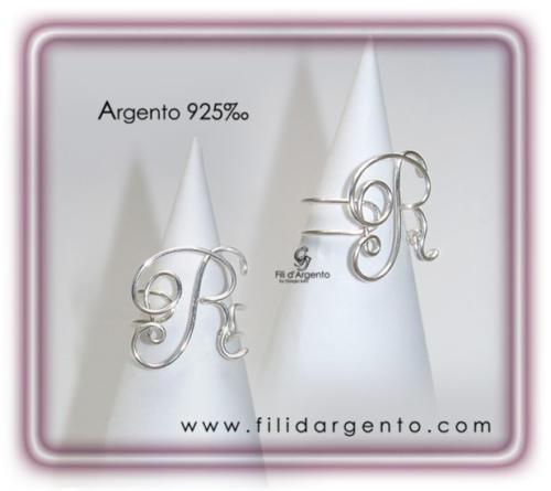 Anello-Lettera-Iniziale-R-Argento 925