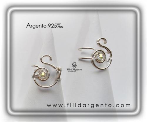 Anello-Lettera-Iniziale-S+ sw-Argento 925