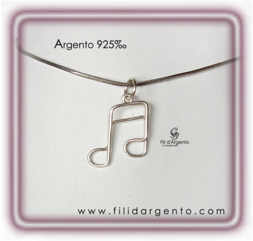 Nota-Musicale-Semicrome-Argento 925